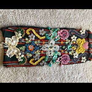 Beautiful North African embroidered cloth panel